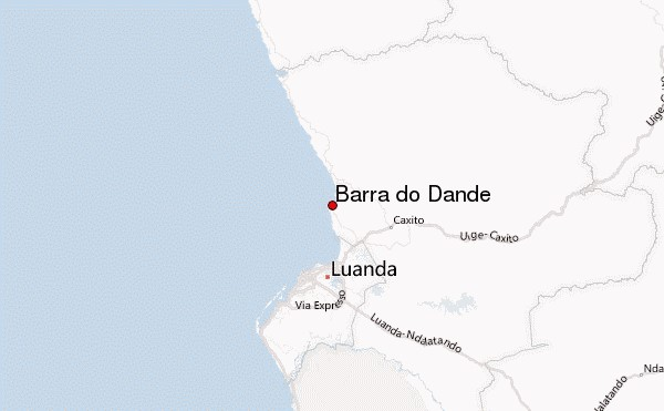 Map of Barr do Dande in Angola, featured in Africa PORTS& SHIPS maritime news