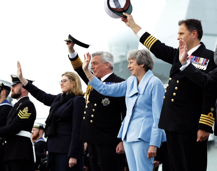HM the Queen paid tribute to those who took part and those who made the ultimate sacrifice in the largest armada the world had ever seen. Picture: MoD Crown Copyright 2019 ©, featured in Africa PORTS & SHIPS maritime news online