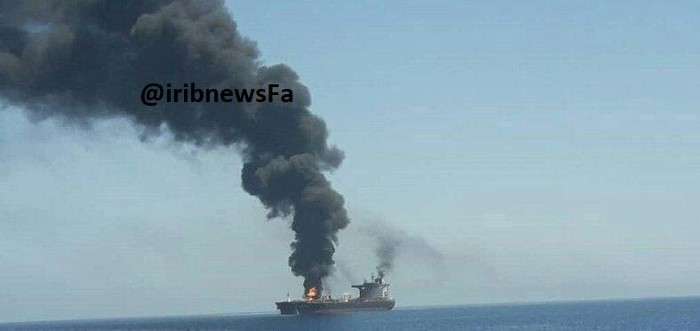 tanker attacked in Hormuz Strait, 13 June 2019, featured in Africa PORTS & SHIPS, Picture IRIB News
