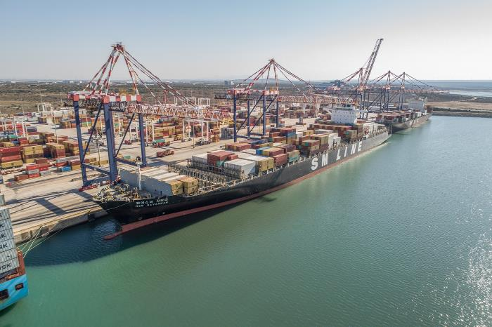 Containership (MSC Savannah) at the port of Ngqura, featured in Africa PORTS & SHIPS maritime news
