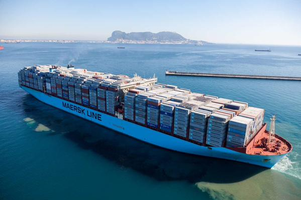 Picture Triple-E class Maersk McKinney Moller. Alliances are the only way that carriers can operate ultra-large container ships (ULCVs) effectively - Lars Jensen, report carried in Africa PORTS & SHIPS maritime news