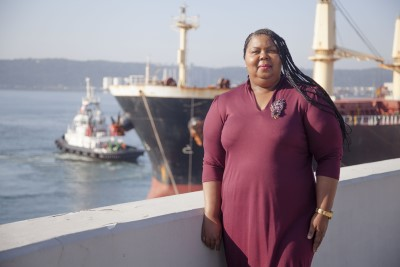 Acting port manager Nokuzola Nkowane, featured in Africa PORTS & SHIPS maritime news online