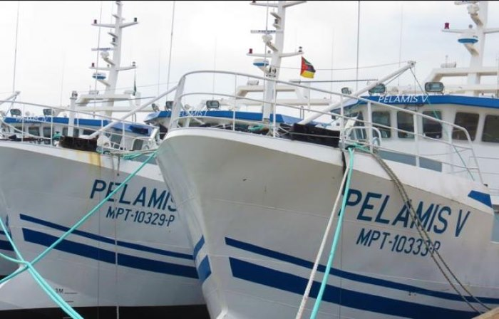 Part of the Ematum fleet of over20 trawlers, featuring in Africa PORTS & SHIPS maritime news online
