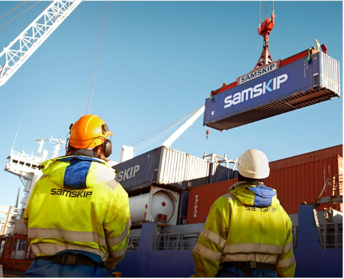 Samskip containes, featured in Africa PORTS & SHIPS maritime news