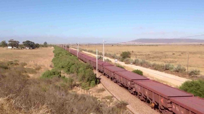 Manganese trains, which can be up to 4km in length, on the railway from the Northern Cape to the port at Saldanha, featured in Africa PORTS & SHIPS maritime news