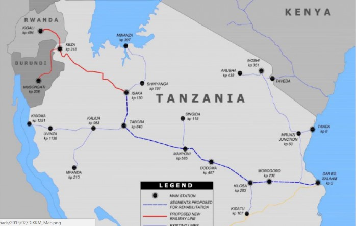 Tanzanian rail routes, including main line to Isaka, as featured in Africa PORTS & SHIPS maritime news