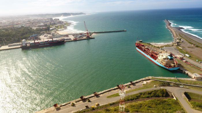 East London harbour entrance, Eastern Cape. Picture courtesy: SAMSA, featured in Africa PORTS & SHIPS maritime news