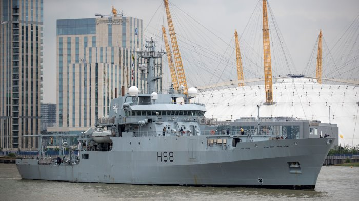 HMS Enterprise on arrival, 19 June. MoD Crown Copyright 2019 ©, featured in Africa PORTS & SHIPS maritime news