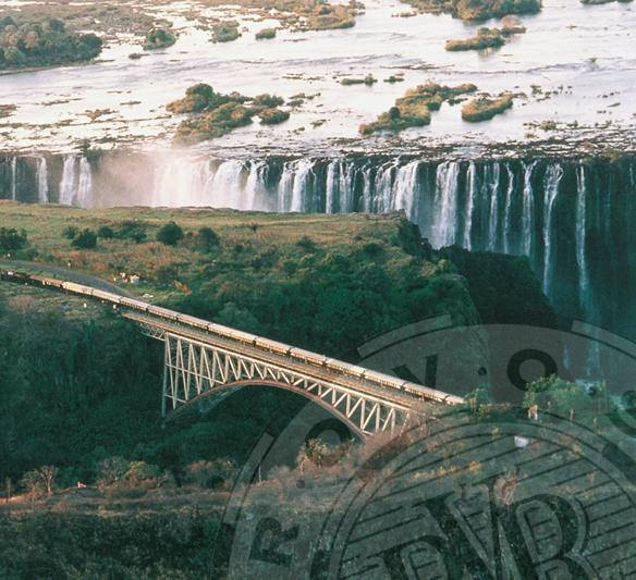 Rovos Rail train crossing the Victoria Falls bridge. Picture: Rovos Rail featured in Africa PORTS & SHIPS maritime news
