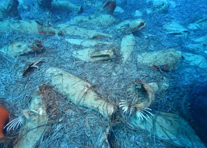 Ancient shipwreck in the sea off Protaras, eastern Cyprus. Picture source: Department of Antiquities, Government of Cyprus, featured in Africa PORTS & SHIPS maritime news