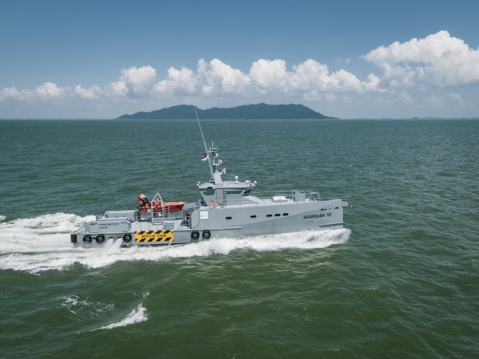 Guardian 10 patrol boat delivered to Nigeria's Homeland and featuredin Africa PORTS & SHIPS maritime news