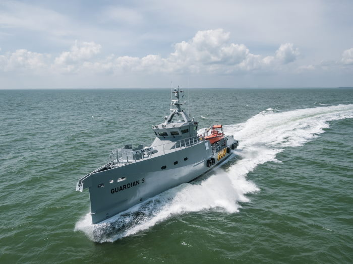 Damen-built Guardian 9, delivered to NIgeria, featured in Africa PORTS & SHIPS maritime news