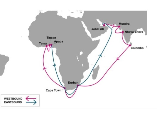 ONE's new Africa India Middle East (AIM) service, feayured in Africa PORTS & SHIPS maritime news