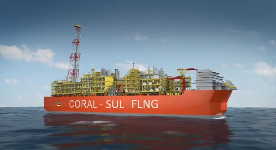 Drawing of the Coral Sul FLNG. Image courtesy: Eni, featured in Africa PORTS & SHIPS maritime news