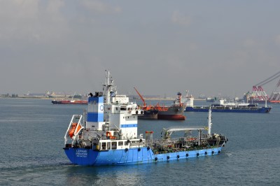 Lefkas, Aegean's first bunker barge to be registered in Port Elizabeth. Featured in Africa PORTS & SHIPS maritime news Picture by Shipspotting