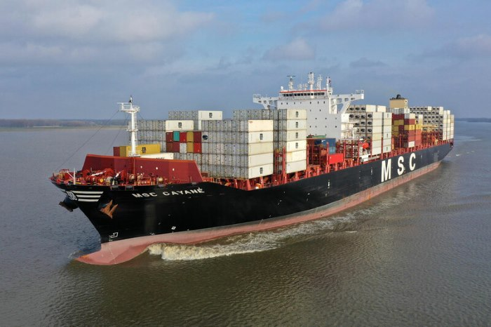 MSC Gayane. Picture: Hamburg Hafen, reported in Africa PORTS & SHIPS maritime news