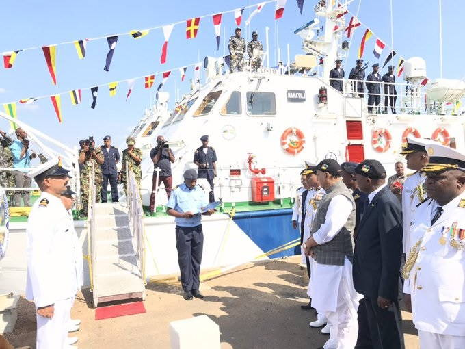 One of the two fast Inshore Patrol Boats donated by India to the Mozambique Navy. Picture Indian Defence Ministry, reported in Africa PORTS & SHIPS maritime news