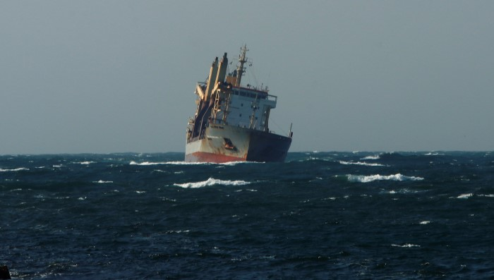 Sider Michelle feeling the swell. Picture: Keith Betts, featured in Africa PORTS & SHIPS maritime news