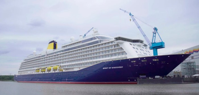 Saga Discovery at the shipyard, featured in Africa PORTS & SHIPS maritime news