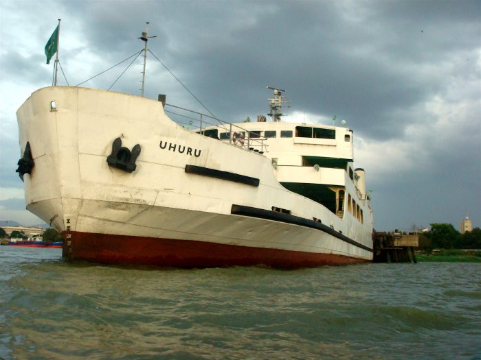 The lake vessel UHURU at Port Kisumu, featured in Africa PORTS & SHIPS maritime news