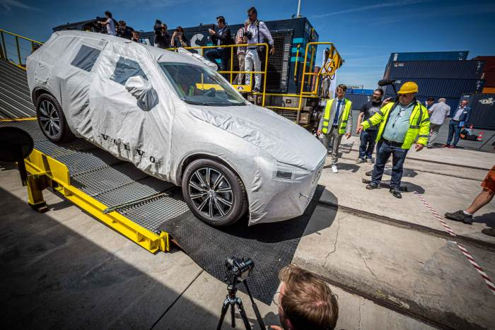 The North Sea Port to China Volvo motor vehicle service was inaugurated in the first week of July.  Photo: Volvo Car Gent ©, featured in Africa PORTS & SHIPS maritime news