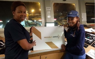 AMSOL women working on the bunker barges, featured in Africa PORTS & SHIPS maritime news