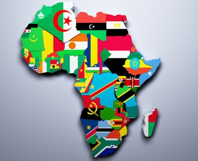 Africa map of flags, featured in Africa PORTS & SHIPS maritime news