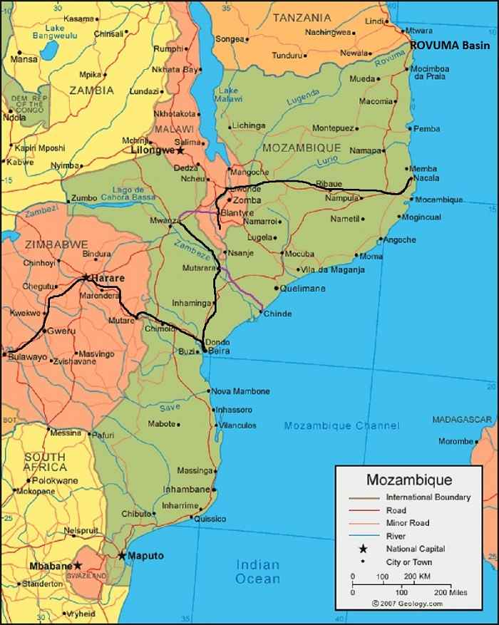 Mozambique's Rovuma Basin in the extreme north of the country featured in Africa PORTS & SHIPS maritime news