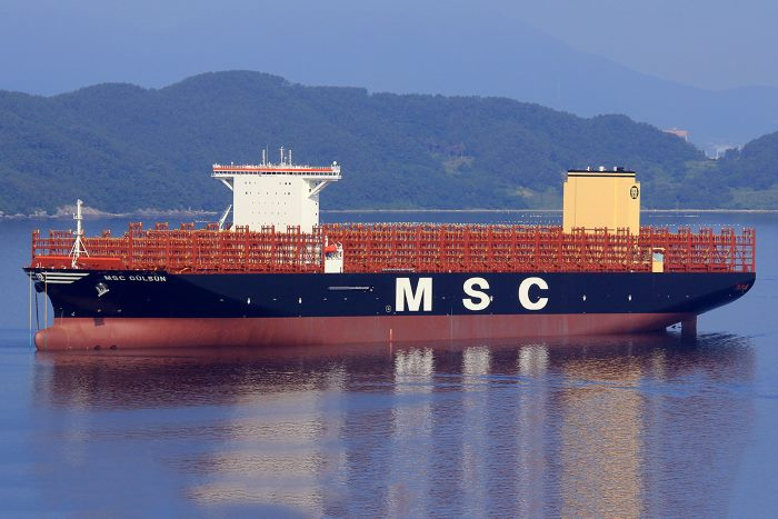 MSC Gulsun. Picture: courtesy Shipspotting, featured in Africa PORTS & SHIPS maritime news