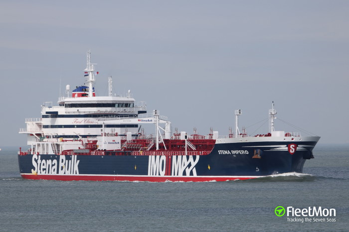 Stena Impero, apparently heading for Iran. Picture: Fleetmon, reported in Africa PORTS & SHIPS maritime news
