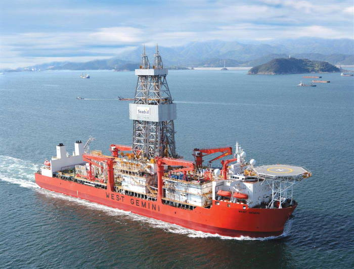 Drillship West Gemini. Picture courtesy: Seadrill, reported in Africa PORTS & SHIPS maritime news