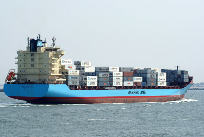 Maersk Newport. Picture courtesy: Shipspotting, featured in Africa PORTS & SHIPS maritime news