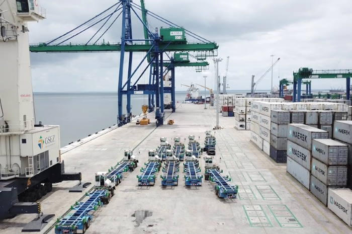 Owendo container terminal. Picture: GSEZ, featured in Africa PORTS & SHIPS maritime news