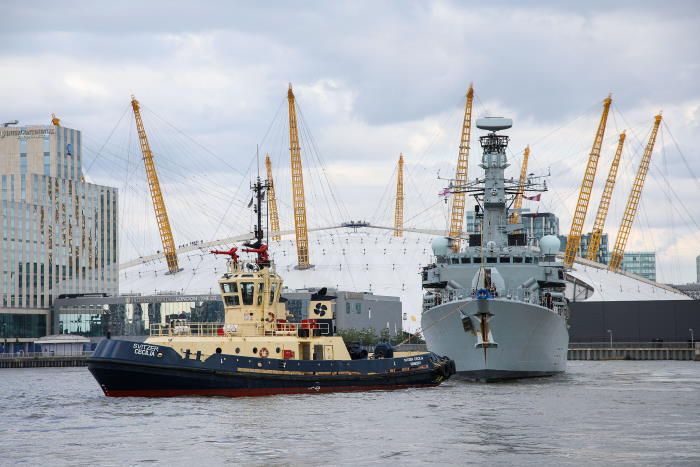 HMS Westminster in London, featured in Africa PORTS & SHIPS maritime news