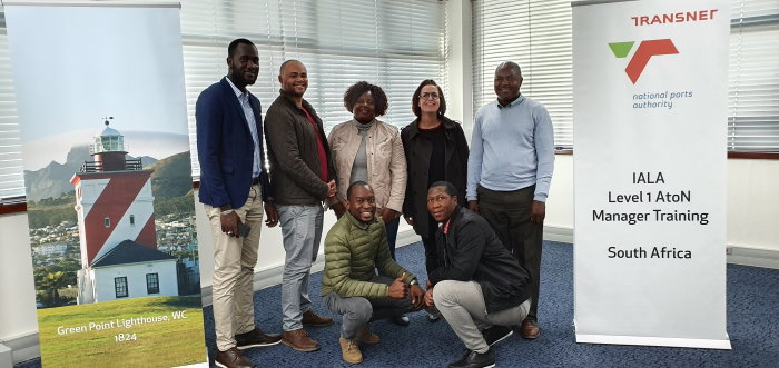 Level 1.1 Aids to Navigation Manager training participants with Gerardine Delanoye, Capacity Building and Resources Manager: IALA World-Wide Academy, featured in Africa PORTS & SHIPS maritime news