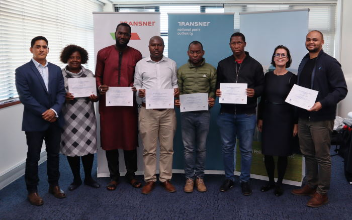 Level 1.1 Aids to Navigation Manager training participants at the closing ceremony on 16 August 2019, featured in Africa PORTS & SHIPS maritime news