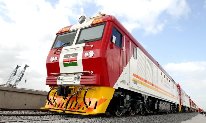 Locomotive from Kenya's SGR, featured in Africa PORTS & SHIPS maritime news