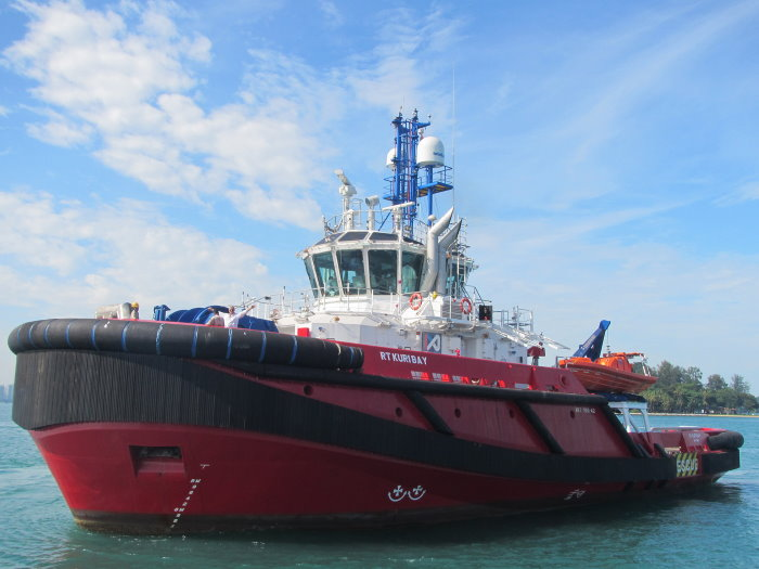 RT Kuri Bay, one of the three vessels used by KOTUG to serve the Shell Prelude FLNG facility, as reported in Africa PORTS & SHIPS maritime news