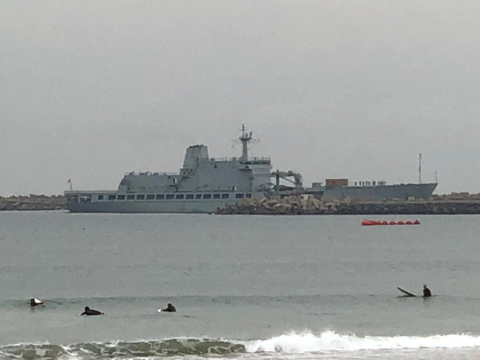 SAS Drakensberg returning to Durban this morning from Mozambique, featured in Africa PORTS & SHIPS