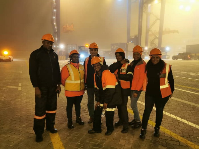 Namport staff during th relocation of containersto the Ne Container Terminal, as featured in Africa PORTS & SHIPS maritime news