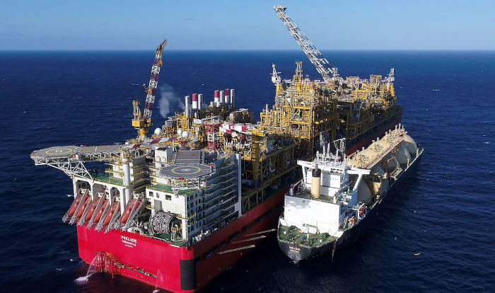 Shell Prelude, the world's largest floating liquefied natural gas platform (FLNG). Picture: Shell, featured in report in Africa PORTS & SHIPS maritime news