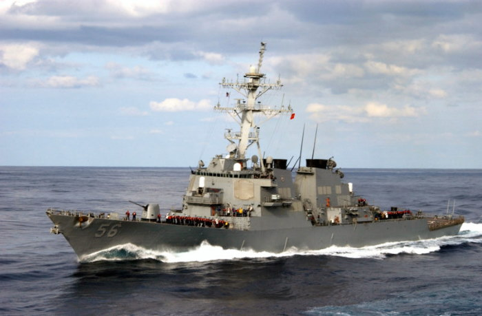 USS John S McCain. Picture: USN ©, featured in Africa PORTS & SHIPS maritime news