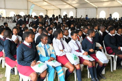 Some of the students attending the event in Coffee Bay, featured in Africa PORTS & SHIPS maritime news