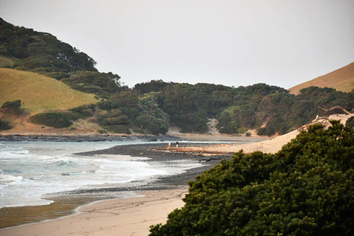 Coastal scene near Coffee Bay in the Eastern Cape, featured in Africa PORTS & SHIPS maritime news