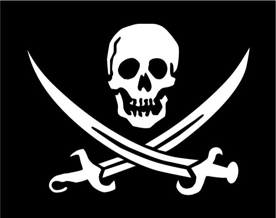 The symbol of pirates the world over, though modern pirates are not known for flagging their intent, appearing in Africa PORTS & SHIPS maritime news