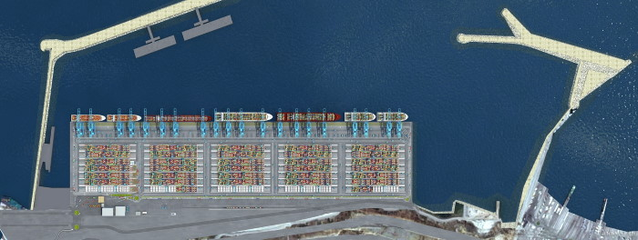 Overhead view of Tanger Med 2, Featured in Africa PORTS & SHIPS maritime news