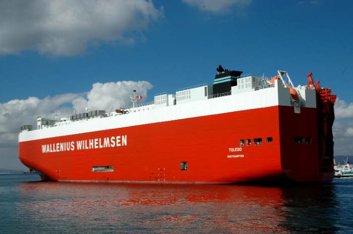 Wallenius Wilhelmsen's RoRo vessel TOLEDO. Picture: Ian Shiffman, featured in Africa PORTS & SHIPS maritime news