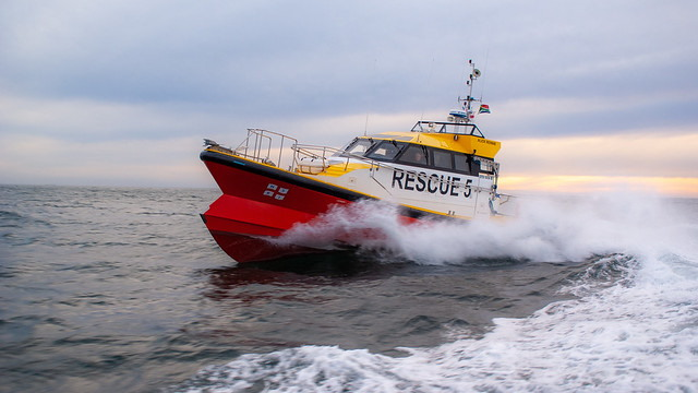 Alick Rennie rescue craft of NSRI Stn 5, by Paula Leech, featured in Africa PORTS & SHIPS maritime news
