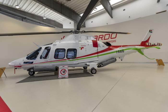 Leonardo's file picture of one of the two new helicopters for the ports of Durban and Richards Bay, featured in Africa PORTS & SHIPS maritime news