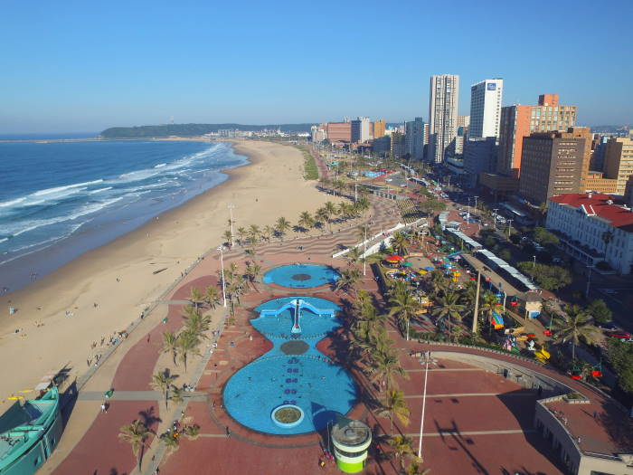 Durban's 5-mile stretch of golden sands - vulnerable to ocean surges, featured in Africa PORTS & SHIPS maritime news